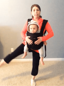 Workout Wednesday: Straight Leg Side Raises with Your Baby