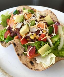 Tex-Mex Salad Goes Whole-Grain With Flatout® Flatbread Bowl!