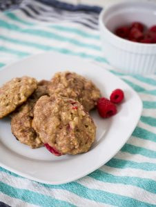 Raspberry Yogurt Breakfast Cookies for Busy Mornings