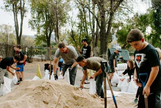 Building social capital one sandbag at a time