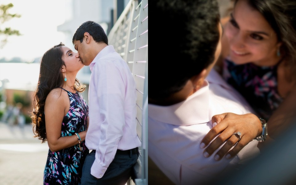 National Harbor Engagement Session with Indian Couple by Erin Tetterton Photography