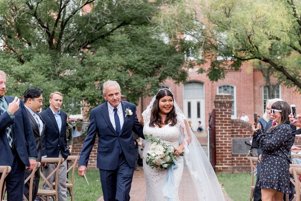 Wedding Ceremony at Carlyle House in Alexandria, VA