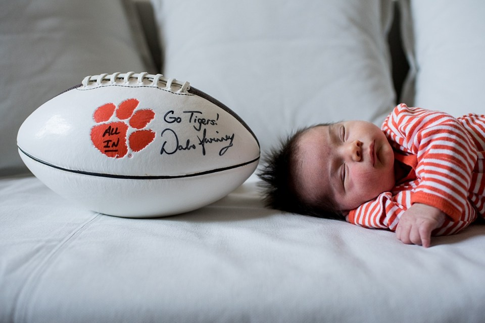 Clemson Football Themed Newborn Session in Arlington, VA by Erin Tetterton Photography