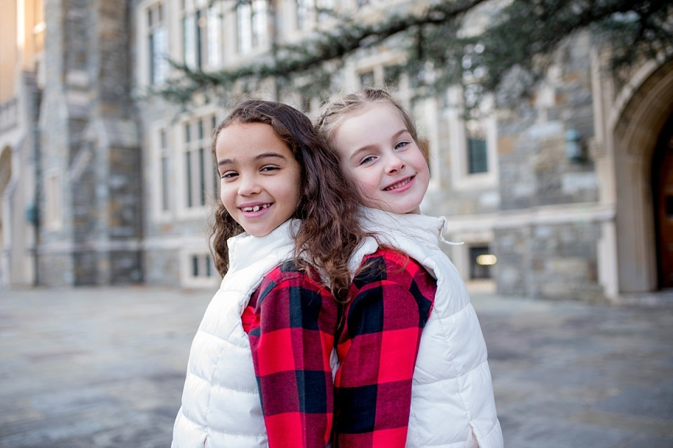 Christmas Card Photos at Georgetown University by Erin Tetterton Photography