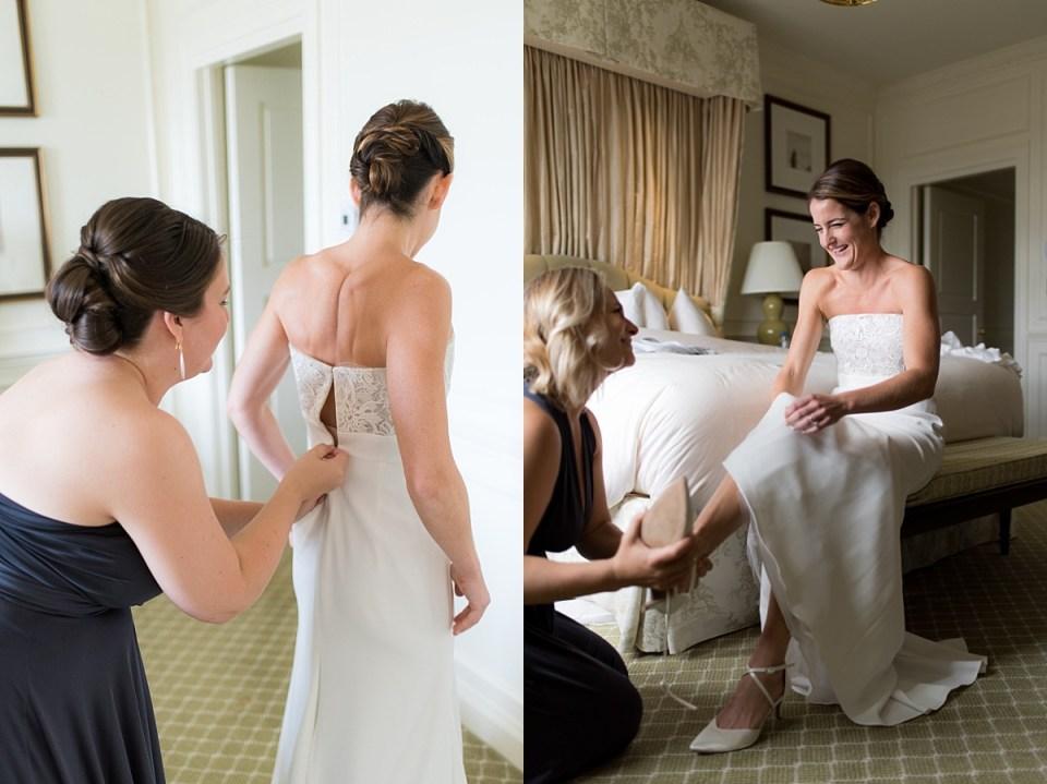 Bride in Bridal Suite at The Hay Adams