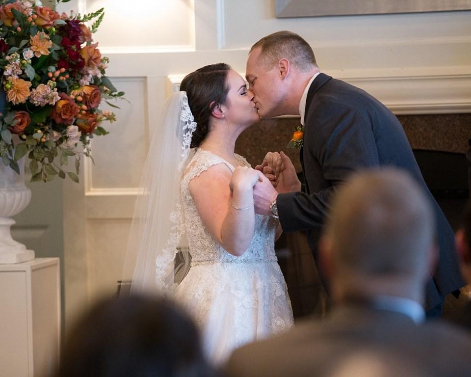 Indoor Ceremony at River Creek Club Wedding in Leesburg, VA