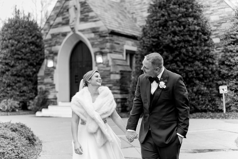 Winter Wedding at Blessed Sacrament Catholic Church in Chevy Chase, MD