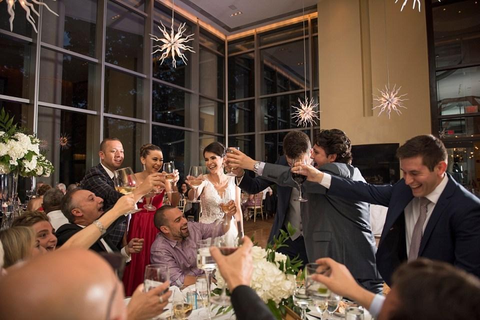 Toasting at Restuarnt 2941 Wedding
