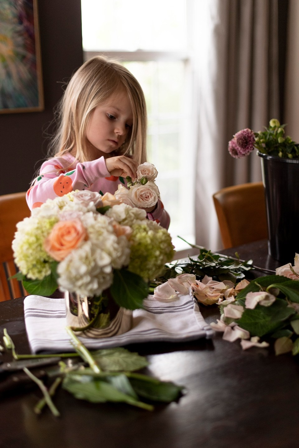 Creative Things to do at Home with Kids - Flower Arranging Workshop with Helen Olivia Flowers in Alexandria, VA