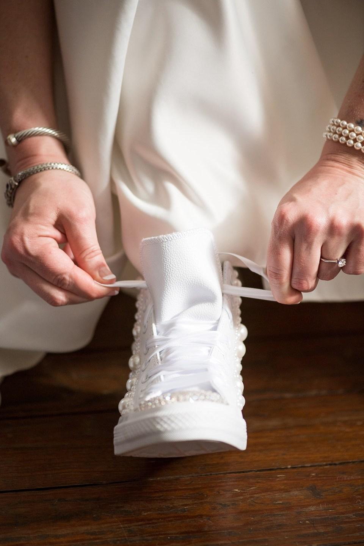 DIY Chuck Taylors for Wedding Day