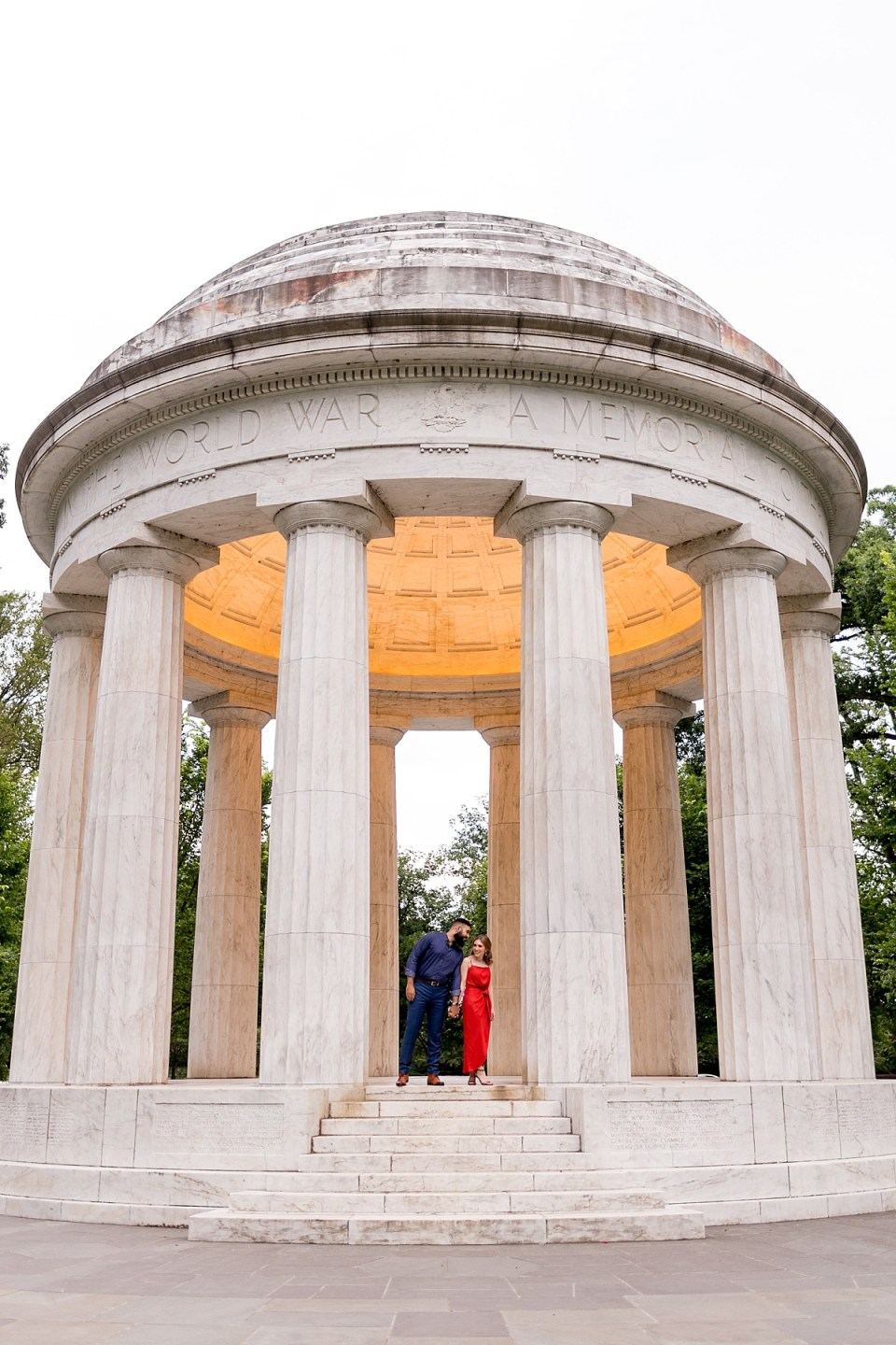 DC War Memorial Engagment Session in Washington DC