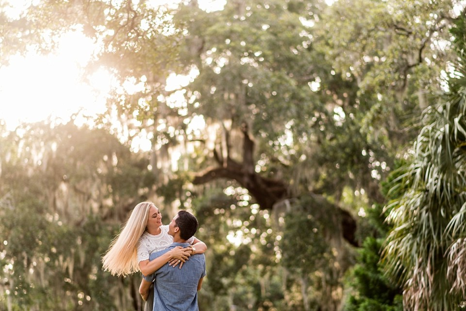 Pawleys Island Engagement Session with Spanish Moss