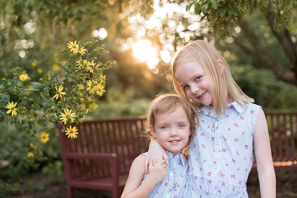 Family photography at Greenspring Gardens in Alexandria, VA