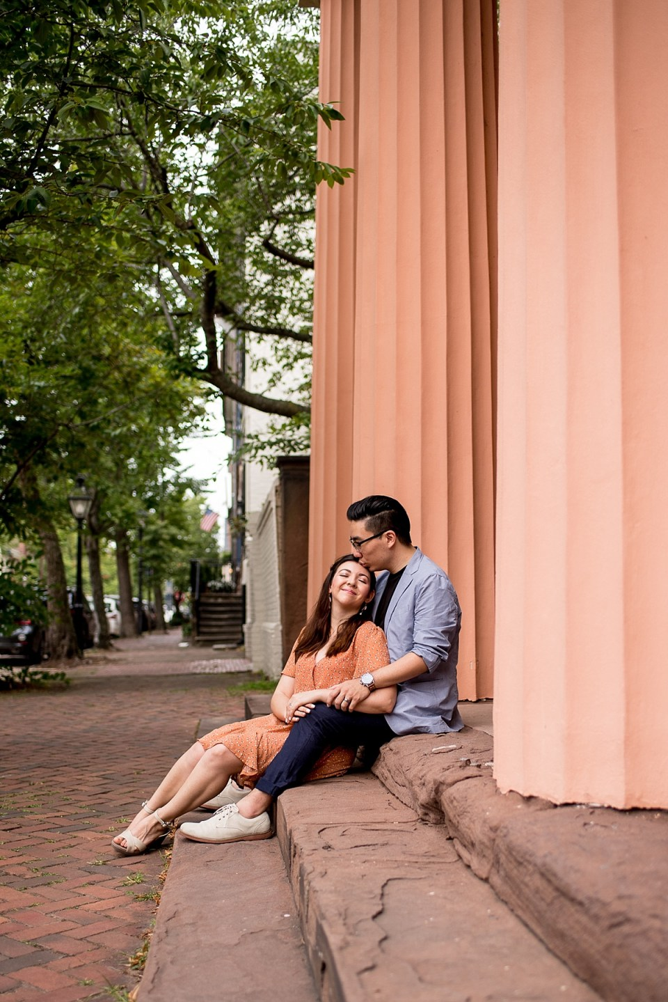 Old Town Alexnadria Engagement Session by Erin Tetterton