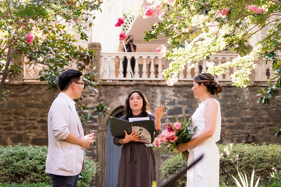 Wedding Ceremony at Carlisle House in Old Town Alexandria