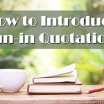 How to Introduce Run-in Quotations