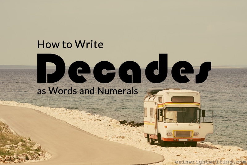 How to Write Decades as Words and Numerals | Image of 1970s-style Bus