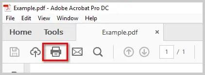 Adobe Acrobat Print To Pdf
