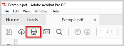 Image of Adobe Acrobat DC Print Button | How to Print PDFs with Comments and Mark-Ups in Adobe Acrobat DC