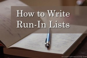 How to Write Run-In Lists