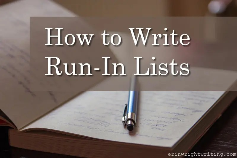 Image of Pen in Notebook | How to Write Run-In Lists