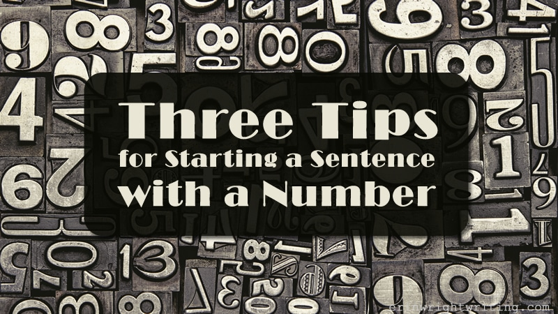 Image of Old Fashion Metal Number Plates | Three Tips for Starting a Sentence with a Number