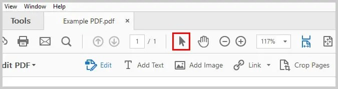 Image of Adobe Acrobat Selection Tool   How to Create External Links in PDFs with Adobe Acrobat
