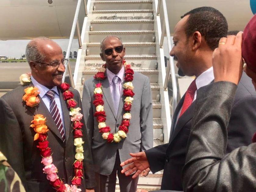 Ethiopian PM Abiy welcomes Eritrean delegation