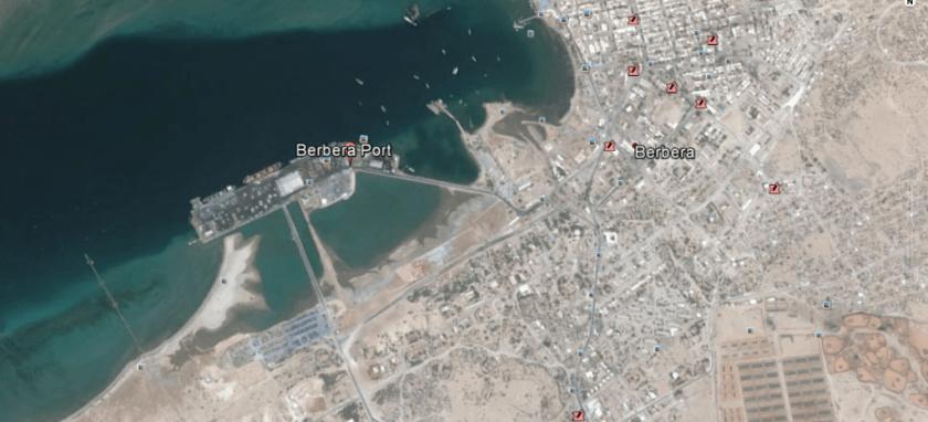 Site of planned UAE base Berbera, Somaliland