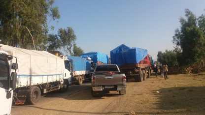 Zalambessa traffic jam 2