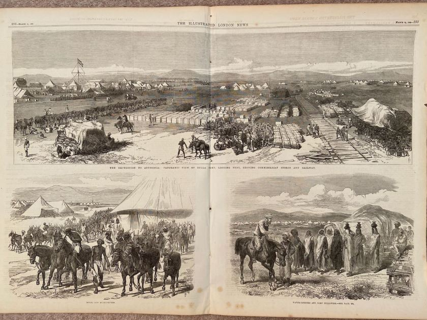Illustrated London News 14 March 1868 British expedition to Ethiopia to rescue consul