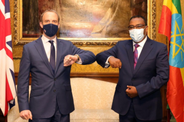 Demeke Mekonnen and Dominic Raab
