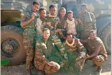 Eritrean troops in Tigray