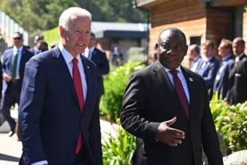 Biden and Ramaphosa at G7
