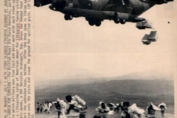 Ethiopia RAF dropping aid 1984-85