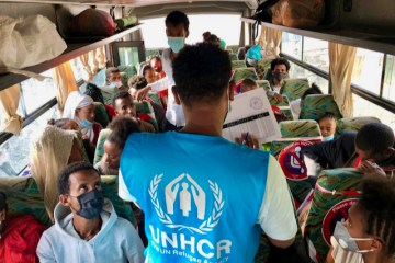 Eritrean refugees relocated from Hitsats and Shimelba