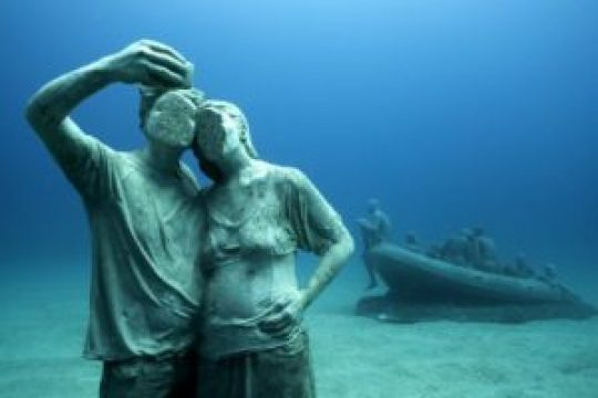 Selfies bajo el agua