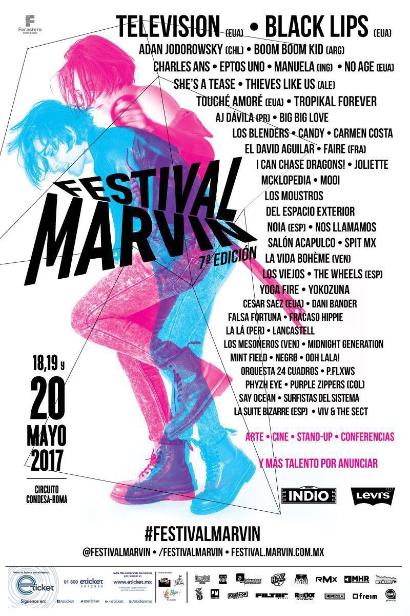 cartel completo de la 7ª edición del Festival Marvin