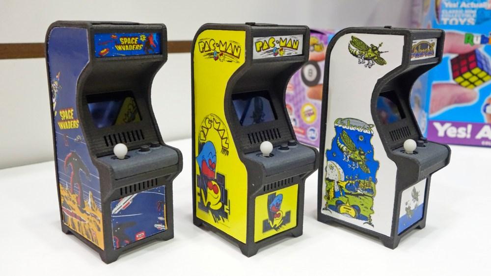 Los mini arcades de Super Impulse, Space Invaders, Pac-Man, Galaxian