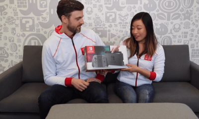 Unboxing de la Switch por Kit Ellis y Krysta Yang en Nintendo Minute