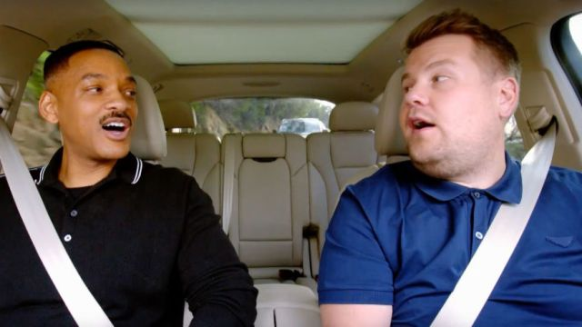 Will Smith y James Corden en el Carpool Karaoke
