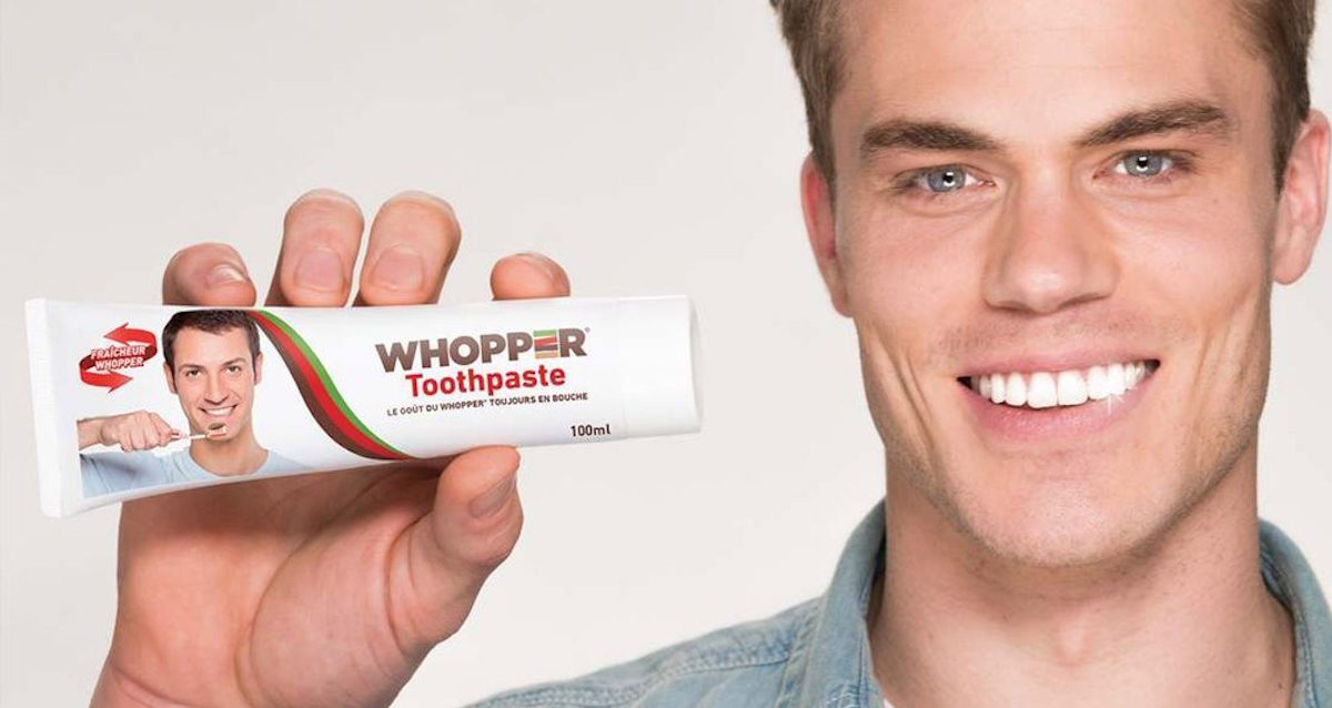 Burger King Francia lanza un comercial anunciando pasta dental con sabor a Whopper