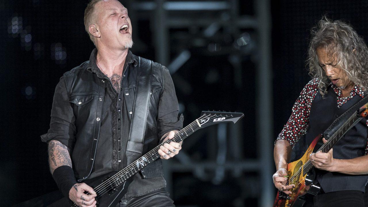 ames Hetfield y Kirk Hammett en la primera fecha de Metallica en el Foro Sol