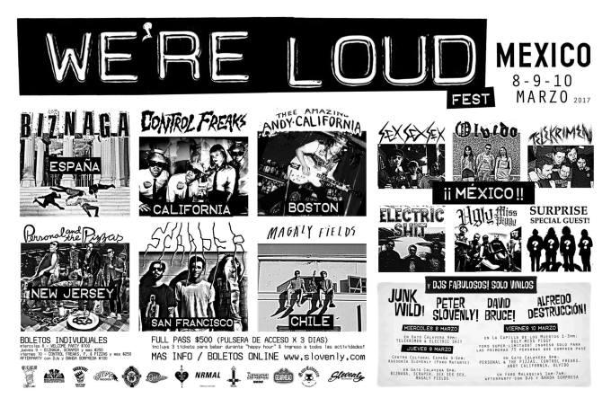 La primera edición mexicana del We're Loud Fest ya está aquí