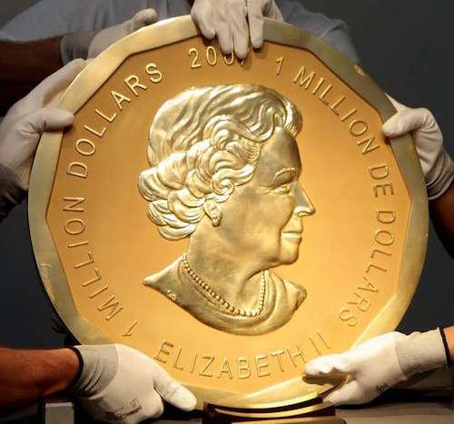 Roban la moneda de oro ma´s grande del mundo de Alemania