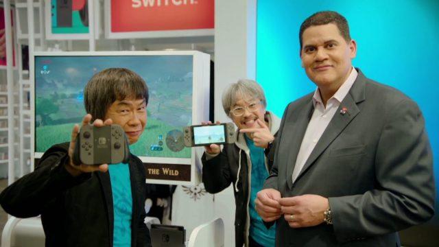 Nintendo Switch Miyamoto Aonuma Fils-Aime