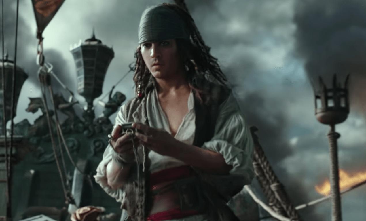 Jack Sparrow joven en el trailer de Piratas del Caribe: La venganza de Salazar