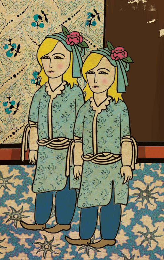 Las gemelas de The Shinning en versión miniatura turca