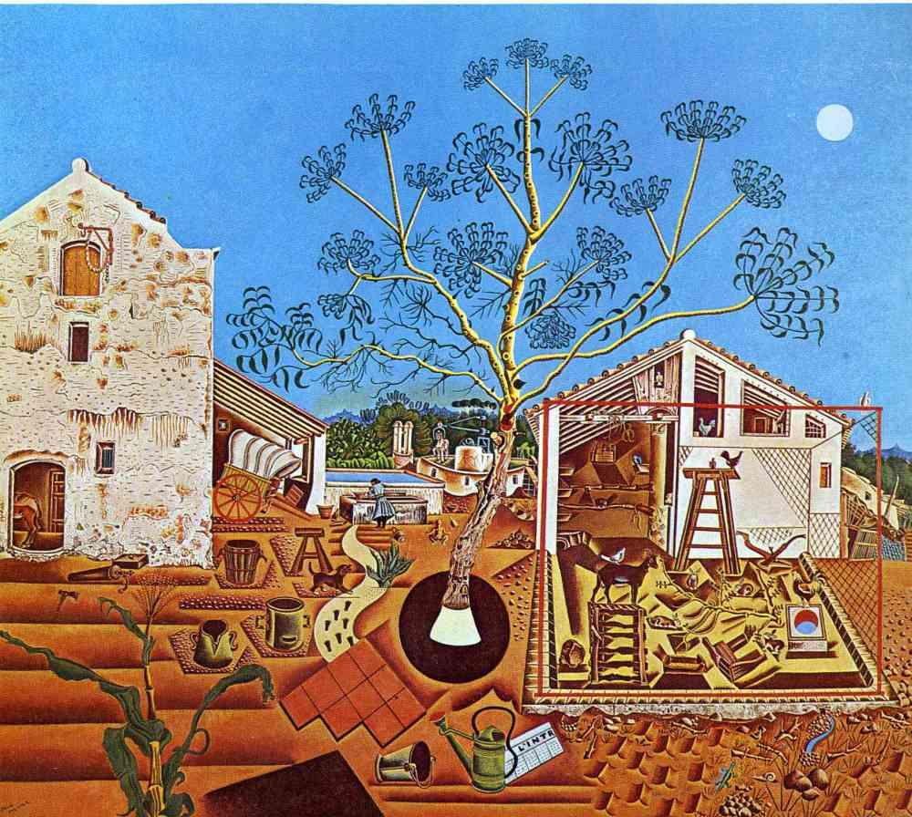 La masía (1922) de Joan Miró