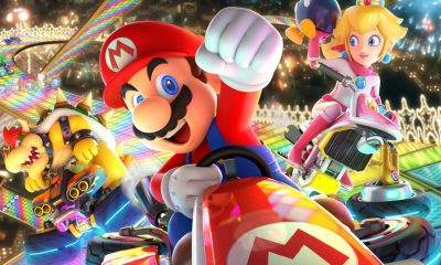 Mario, Peach y Bowser en Mario Kart 8 Deluxe